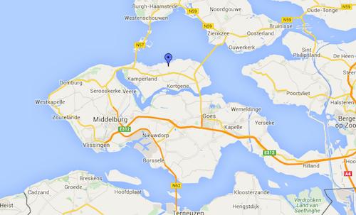 Locatie ijsbaan Bokkegat in Zeeland