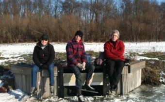 3 schaatster rusten uit op het bokkegat